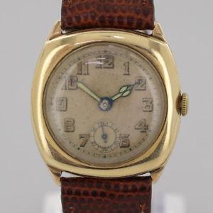 【送料無料】vintage manual wristwatch 9ct yellow gold
