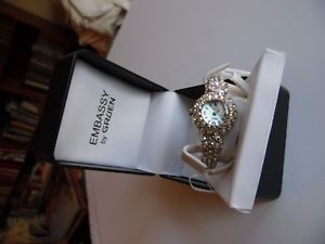 【送料無料】embassy by gruen quartz ladies bracelet watch, needs battery, in the box