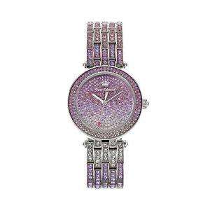 【送料無料】juicy couture womens victoria stainless steel bling watch
