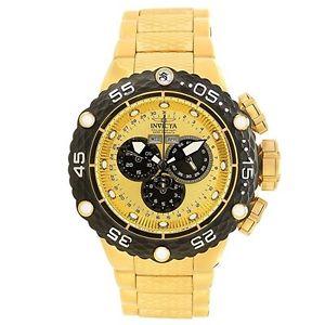 【送料無料】invicta mens subaqua goldtone swiss quartz analog stainless steel watch 21676