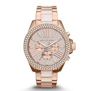 【送料無料】 michael kors mk6096 ladies wren rose gold watch 2 year warranty