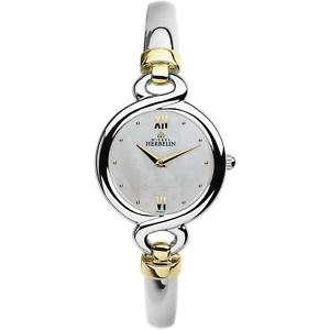 【送料無料】neues angebotmichel herbelin womens siam 255mm steel bracelet quartz watch 17435bt19