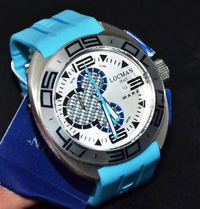 【送料無料】locman shark orologio uomo cronografo titanio e fibra di carbonio lista 595