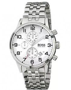 【送料無料】hugo boss hb1512445 chronograph stainless steel strap mens quartz wrist watch