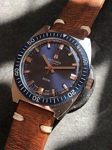 【送料無料】vintage atlantic 3005 mens diver watch manual 36mm swiss made