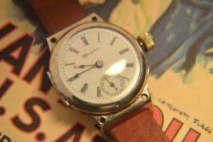 【送料無料】hampden usa made trench watch, ca 1918, ww1 gents military wristwatch nice