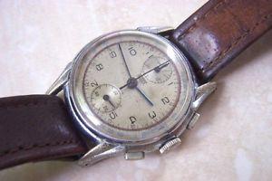 【送料無料】a hubex updown manual wind chronograph watch c late 1940s