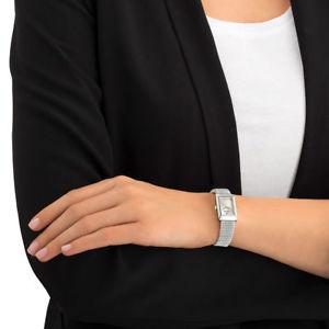 【送料無料】swarovski orologio memories, cinturino in crystal mesh, bianco, tono argentato 5