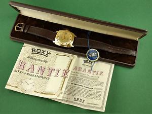 【送料無料】anker roxy automatic puw 661s full set uhr watch gold box 1979