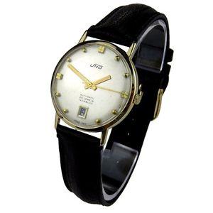 【送料無料】uno vintage 9ct gold automatic wristwatch