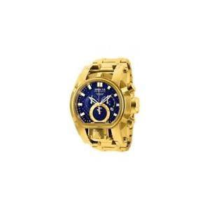 invicta mens reserve quartz chronograph s, steel gold tone watch 25209