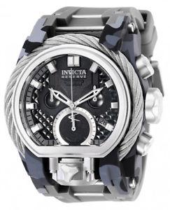 invicta mens reserve quartz chrono 200m stainless steelsilicone watch 26439