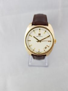 1970s zenith surf gold plated gent watch serviced working calibre 2572 c