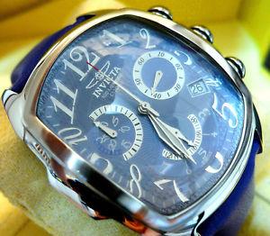 【送料無料】invicta 2099 lupah dragon 1st gen 13 jewel swiss made chrono metallic blue