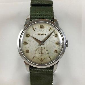 【送料無料】orologio zenith vintage in acciaio a carica manuale cal 40 anni 60