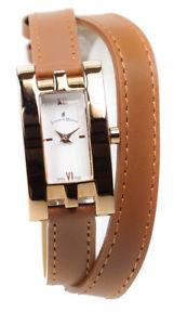 【送料無料】jacques du manoir watch ladies rose gold and brown wrap