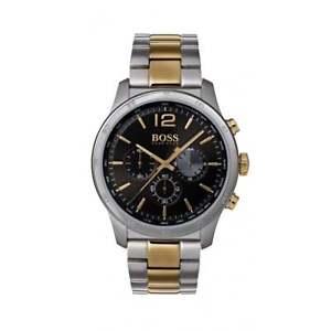 【送料無料】boss professional herrenuhr 1513529 analog chronograph edelstahl gold,silber