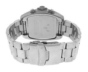 authentic mens aqua master mother of pearl steel chrono date quartz watch