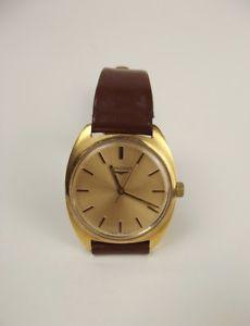 【送料無料】gents gold plated longines wrist watch with box