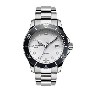 【送料無料】nib christopher ward c60 trident 300 quartz on bracelet, 43mm,swiss made,10 pic