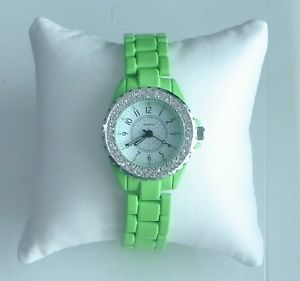 【送料無料】splendid~green austrian crystal ladies wrist watch