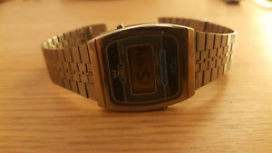 【送料無料】80s vintage interesting gents wrist watch juwel lcd made in taiwan