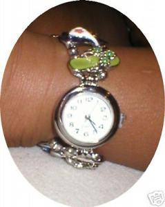【送料無料】victorian flip flops enamelled bracelet watch