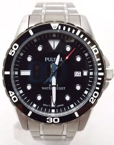 【送料無料】pulsar analog sport watch silver mens ps9111