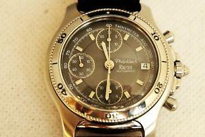 【送料無料】orologio philip watch rafter 100 mt crono automatico acciaio original box 2003