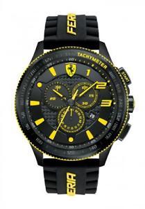 【送料無料】orologio cronografo uomo ferrari scuderia xxl fer0830139 nero e giallo originale
