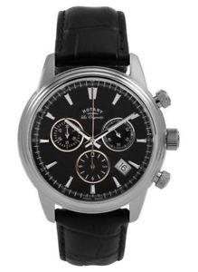 【送料無料】rotary les originales monaco mens chronograph watch leather strap gs9012504