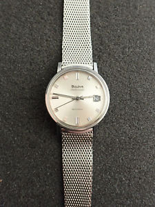 【送料無料】nice vintage bulova ambassador ss wristwatch 36mm automatic keeping time