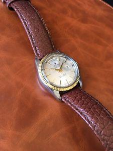 【送料無料】rare vintage sicura breitling automatic day date watch