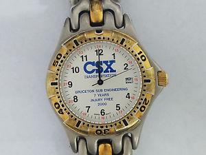 【送料無料】csx transportation bruceton sub engineering 7 years injury wristwatch 5968