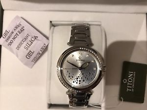 titoni ladies selfwinding watch round with crystals swiss made brand