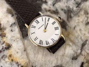 【送料無料】nice clean vintage ladies movado 14k yg watch