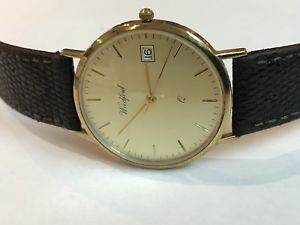 【送料無料】men's 9ct gold datejust wristwatch woodford working order