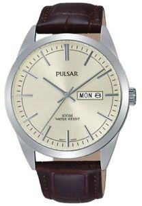 【送料無料】pulsar gents leather strap watch pj6069x1pnp