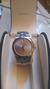 【送料無料】mens movado luno 84e71850, stainless steel, water resistant luxury watch