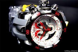 men invicta reserve venom swiss movt master calendar white chronograph watch