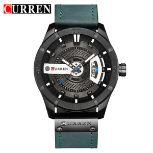 【送料無料】curren 8301 top luxury watch men date display leather creative quartz wrist