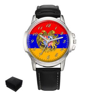 【送料無料】armenia armenian flag eagle gents mens wrist watch gift