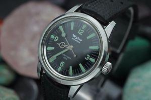 vintage wyler incaflex heavy duty 660ft stainless steel 35mm mens diver watch