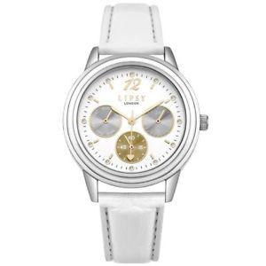【送料無料】lipsy london womens quartz designer watch white leather strap slp006w