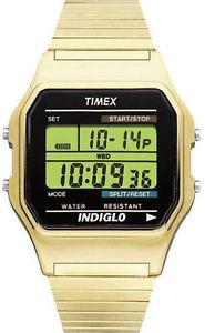 【送料無料】timex t78677, mens digital goldtone expansion watch, alarm, indiglo, chrono