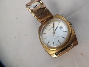 【送料無料】a fine vintage gents stainless steel cased contima gents quartz watch