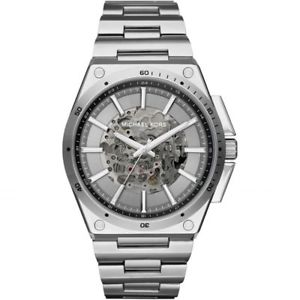 【送料無料】michael kors mk9021 wilder stainless steel silver tone automatic men watch