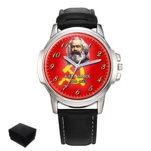 【送料無料】karl marx german philosopher gents mens wrist watch gift engraving