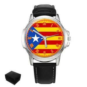 【送料無料】catalonia blue estelada independence catalan mens wrist watch gift engraving
