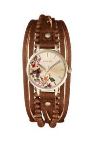 【送料無料】kahuna womens gold plated multithong brown strap watch kls0372l rrp40